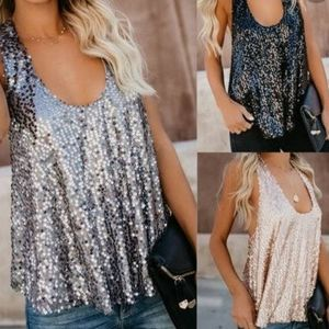 Dressbarn collection sequins sleeveless top